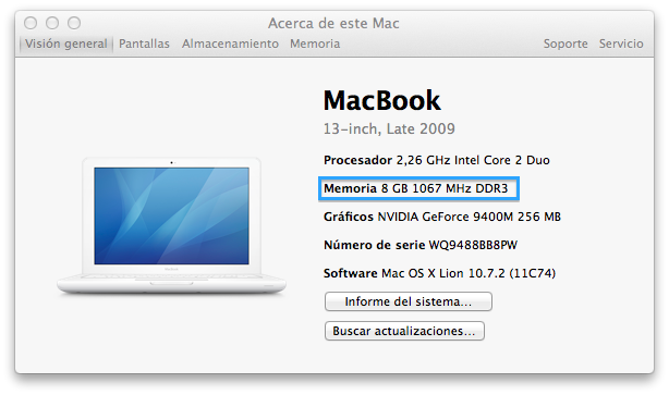 Landitech Upgrade Memoria Ram De 2 A 8 Gb En Macbook